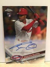 2017 Topps Chrome Roman Quinn RC Auto Philadelphia Phillies