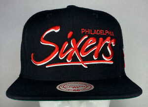 Mitchell and Ness NBA Philadelphia 76ers MOP Script Snapback Hat, Cap, New