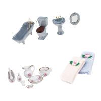 1/12 Scale Miniature Multicolor Bathtub Toilet Dollhouse Bathroom Furniture