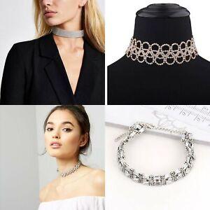 new choker collar rhinestone crystal choker sparkle party diamante necklace