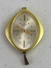 Vtg Endura Swiss Made Watch Gold Tone Aluminum Pendant