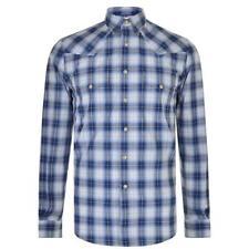 Saint Laurent Check Shirt 14.5 (37) Collar Long Sleeve Blue £452 YSL