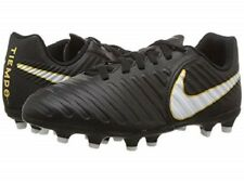 Nike Jr Tiempo Rio IV FG Cleats Youth Firm Ground Soccer New Size 5 Black/White