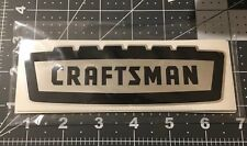 Craftsman vintage 1958 60's style decal tool box Crown Black On Chrome Large 6""