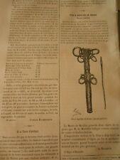 Etui à Aiguilles en Bronze Epoque Gauloise Gravure old Print 1884