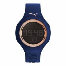 Puma Watch Wrist Men's Digital Silicone PU910801045 Drop Navy Rose Gold