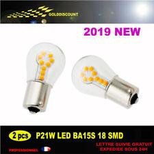 kit 2 p21w led 18 smd 3030 6000k orange protection verre new 2019/