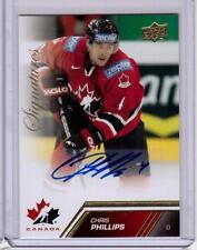 CHRIS PHILLIPS 13/14 Upper Deck Team Canada Auto Autograph #27 Gold Signed Card