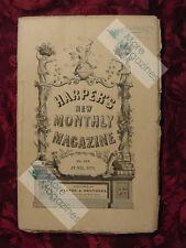 HARPER's June 1876 VIRGINIA SOUTHWEST THOMAS BAILEY ALDRICH GEORGE ELIOT +++