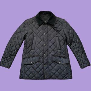 Mens Barbour Bardon Jacket Size M Medium Black Quilted Coat RRP £169