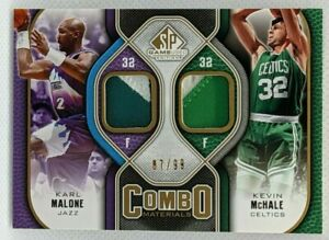 2009 SP Game Used Karl Malone Kevin McHale Combo DUAL PATCH #87/99 Jazz Celtics