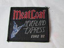 Original MEATLOAF Neverland Express Euro 82 Sew on 1980's Badge / Patch