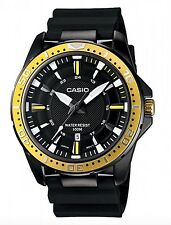 Casio Watch * MTD1072-9AV Gold & Black Steel Case Silicone Strap COD PayPal