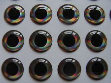 100 X 3D holographique 4 mm Real Fish Eyes pour flytying, leurre, mouches, Brochet, Bass, (D)