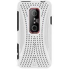 NEW WHITE MESH HARD SHELL CASE BACK COVER FOR HTC EVO 3D, HTC EVO V 4G