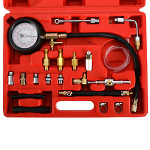0-140 PSI Petrol & Diesel Fuel Injection Pump Injector Tester Pressure Gauge Kit
