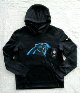 Nike NFL Football Carolina Panthers Youth Hoodie Sweatshirt Black L 14 / 16  NWT