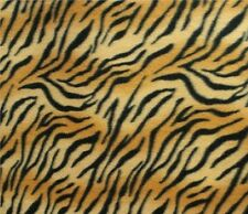 Tiger Print Fleece Fabric by the Yard