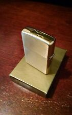 Golden Zippo H 11 Flat Bottom Lighter USA in Black and Gold Box