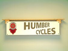 Humber Cycles BANNER Bicycle Collector Workshop Vintage style Advertising sign