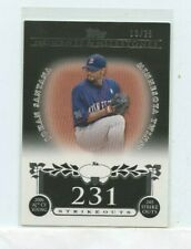 JOHAN SANTANA 2008 Topps Moments & Milestones 231 Strikeouts #D /25 Twins