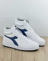 Diadora Scarpe Sportive Sneakers Sportswear Playground High Bianco Blue Uomo