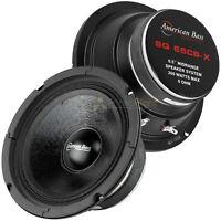 """2 Pack American Bass 6.5"""" Midrange Speaker 300 Watts Max 8 Ohm Midbass SQ65CB-X"""