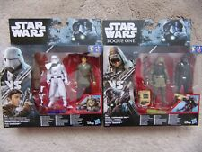 """Star Wars 3.75"""" Action Figures PAO v DEATH TROOPER + IMPERIAL SNOWTROOPER vs POE"""