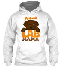 Proud Chocolate Labrador Mamas! - Lab Mama Gildan Hoodie Sweatshirt