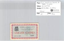 CHAMBRE DE COMMERCE CETTE (SETE) - BILLET DE 50 C 11-8-1915 (1929)