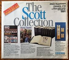 Scott Canada Specialty Album Supplement for 1991 Open Package Contents Complete