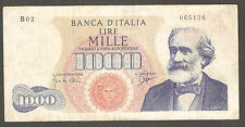 1.000 lire VERDI I TIPO B02 del 14-07-1962 SPL 1000 RARA Italy 1,000
