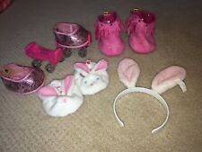 Build A Bear Boots Roller Skates, Shoes, Bunny Slippers And Ears