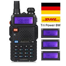 DE BaoFeng UV-5RTP 8W 10km Hohe Energie UHF/VHF Hand Funkgerät Walkie Talkie DHL