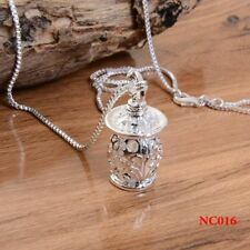 925 Silver Filled Hollow Bottle Pendant Unisex Retro Jewelry Gift For Necklace