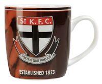 98890 ST KILDA SAINTS AFL TEAM HISTORY CERAMIC BARREL COFFEE MUG IN BOX