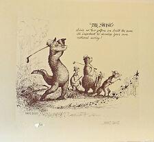 "WALT DISNEY'S MARC DAVIS LTD EDITION ""EIGHT RULES OF GOLF"" PUBLISHERS PROOF SET"
