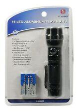 SE FL30149-B 14-LED Aluminum Flashlight, Black