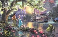 "PRINCESS & THE FROG Thomas Kinkade Postcard Art 8.5x5.5"" Large Disney"