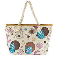 Heart Moon Novelty Printed Tote Bag Lux Accessories Colorful Owl Bird Flower