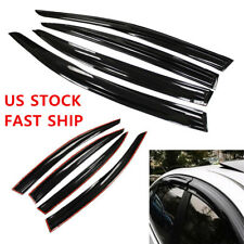 4pcs Car Window Visors Vent Sun Shade Guard For Honda Civic 2012-2013 2014 US