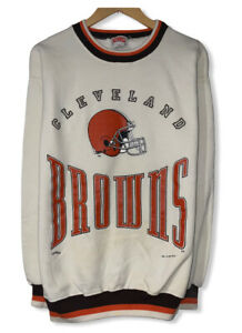 Vintage Cleveland Browns 1995 Men's Sz M/L Cuffed Pullover Sweatshirt Nutmeg USA