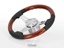 MÖWE Marine Wheel Palma Real Leather Black For Nidelv Teleflex Ultraflex