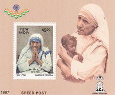 India 1997 Mother Theresa Miniature Stamp
