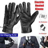 Rechargeable Waterproof Touch Screen Motorcycle Electric Heated Gloves Warm Hand