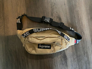 supreme waist bag ss18 sand tan AUTHENTIC