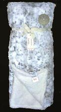 Nicole Miller Artelier Snow Leopard Faux Fur/Sherpa REVERSIBLE Throw Blanket