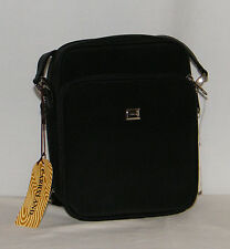 New Carryland Hand Bag / Purse / Organizer Pockets . Black CrossBody Adjustable