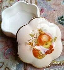 "VINTAGE Royal Worcester in porcellana inglese Royale COLLECTION ""FRUTTA"" Ciondolo Box"