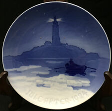 1924 Bing & Grondahl Christmas Plate - Lighthouse in Danish Waters